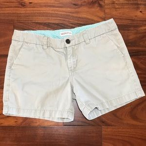 Women's size 4, Flat Front, Khaki Shorts